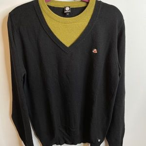 Paul frank black wool pullover sweater L large